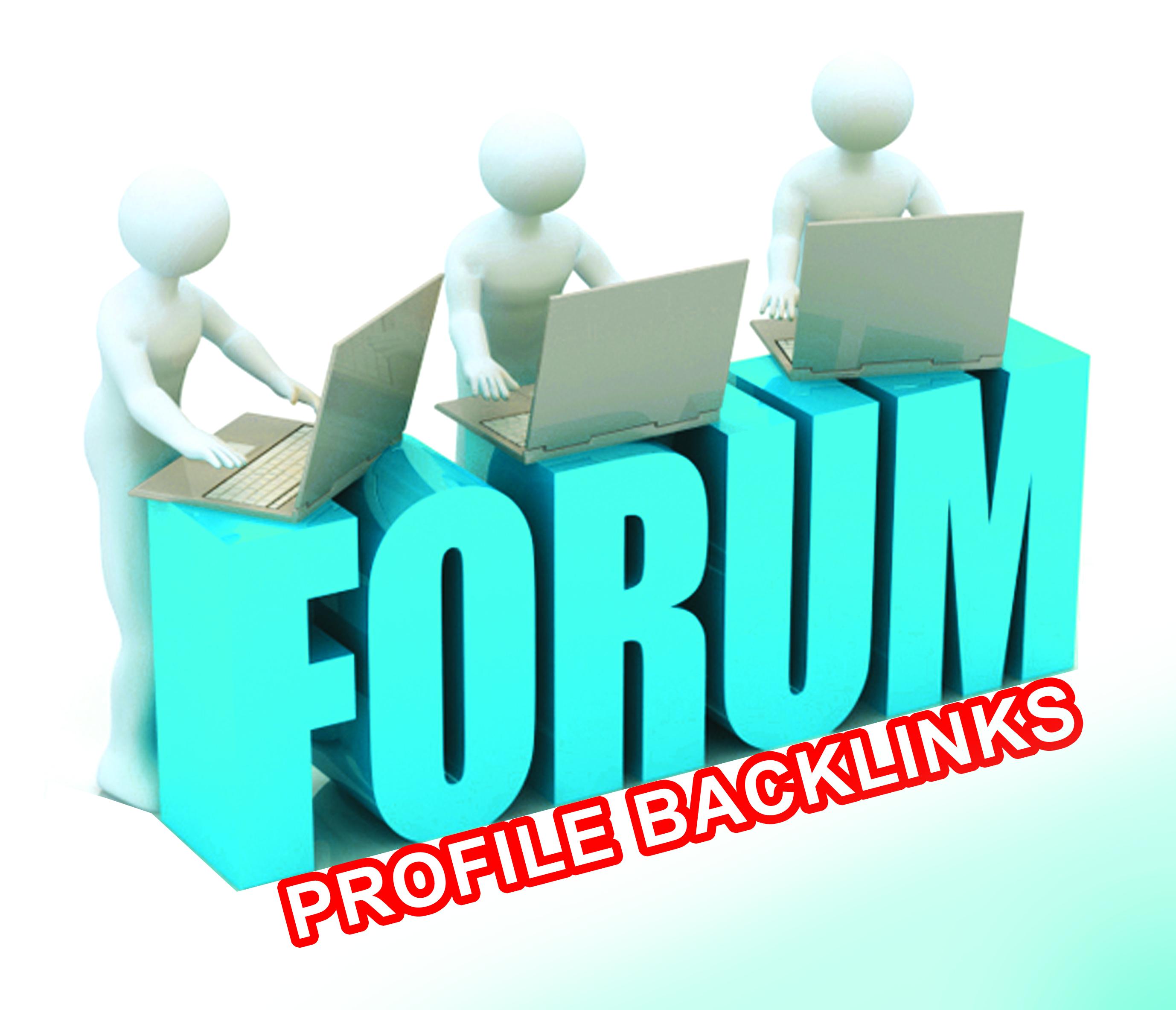 Create 111+ High Quality Forum Profile Backlinks