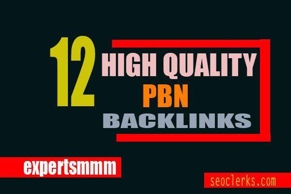 12 High Quality Homepage PBN Backlinks