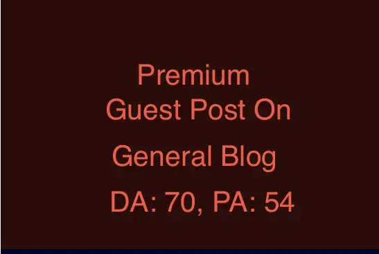 Premium guest post on da70 spam free general blog