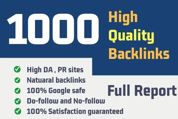 1000+High Authority Backlinks With Pemanents Quality Links Da 50 to 99 Plus And Sky Rocket Your Site