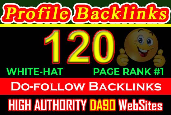Real 120 Pr9 High DA PA Dofollow Quality Profile Backlinks