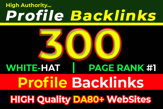 Safe 300 SEO profile backlinks from quality off page manual seo link building