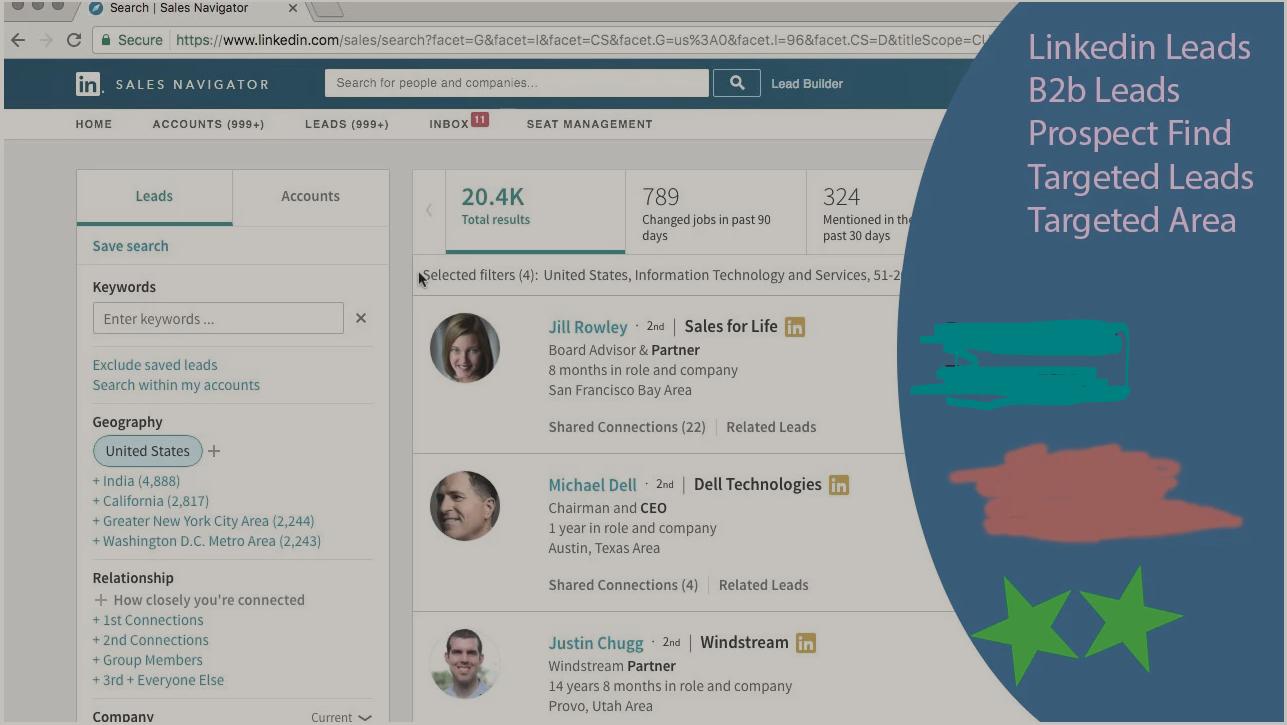 I Will Build Linkedin Lead Generation With Sales Navigator