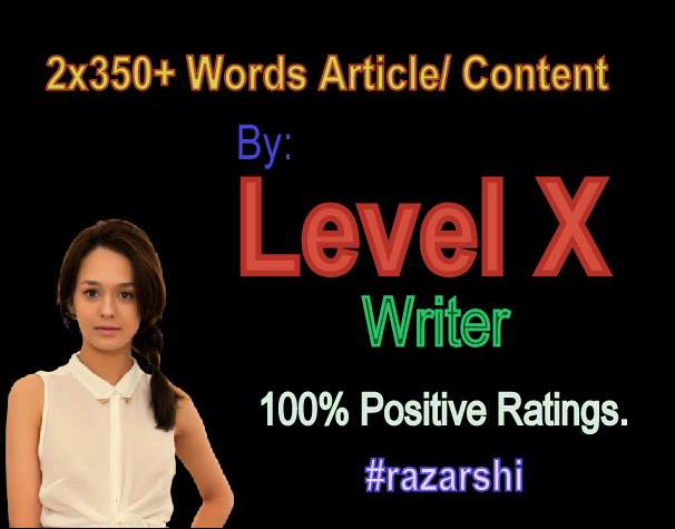 2x350 Words Article/ Content By Level X Writer