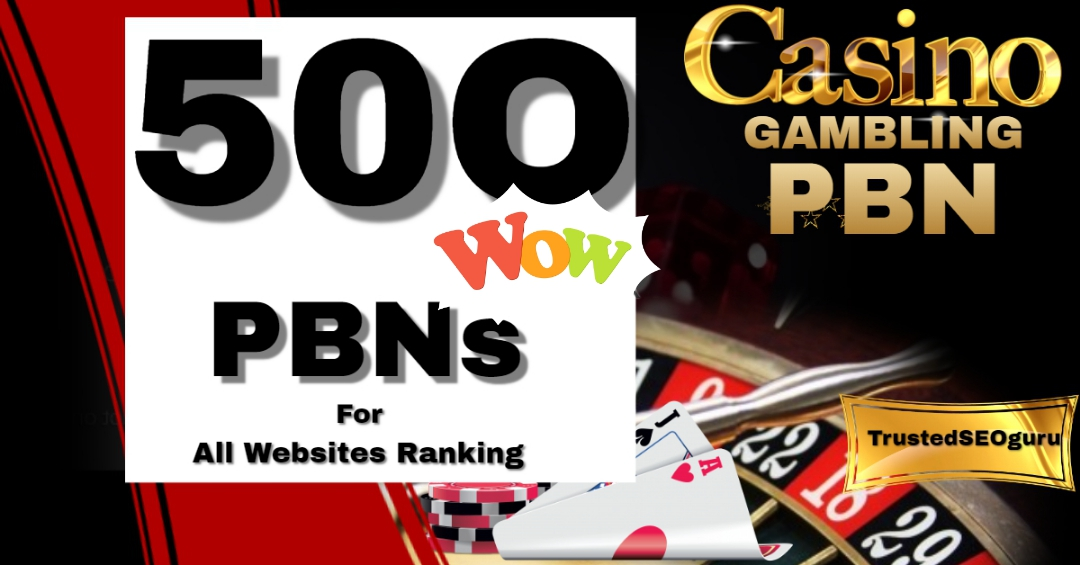 500 PBN Post Betting,  Judi Bola,  Casino,  Poker Package - speedy delivery with limited time offer