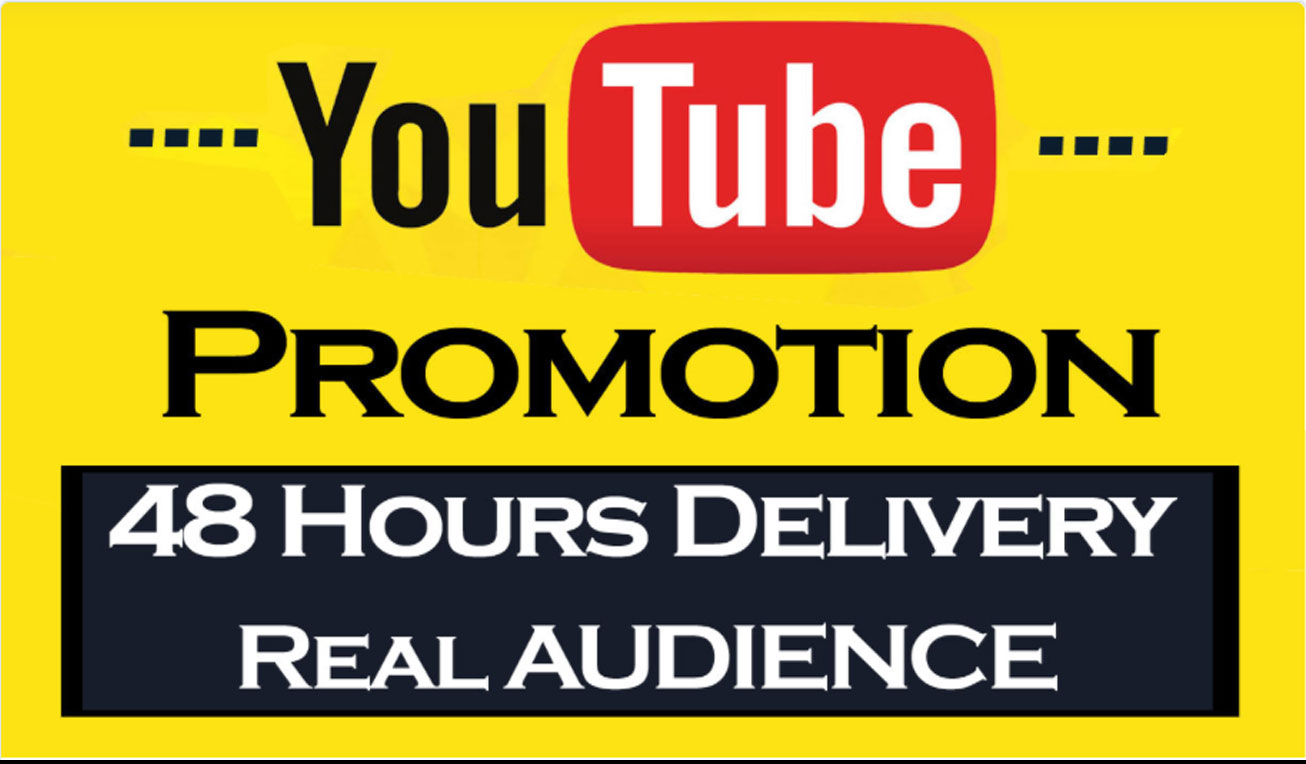 YouTube Video Promotion and Super fast delivery