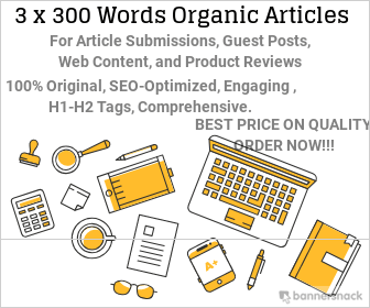 3x300 WORDS HIGH QUALITY ARTICLES