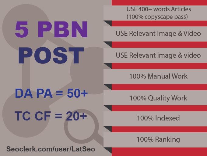 Do 5 DA 50+ Permanent Pbn Post With High Metracis