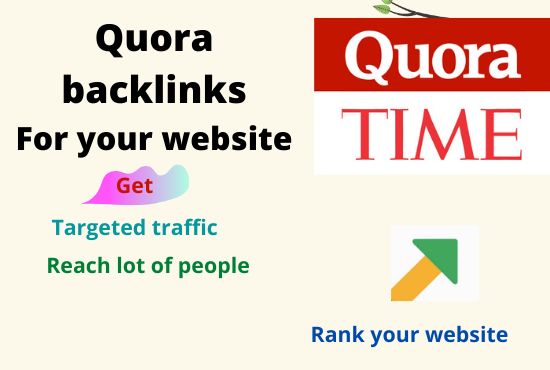Promote your website with 20 high quality quora backlinks