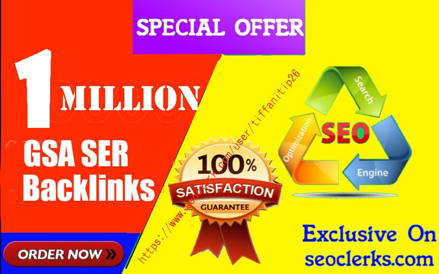 1 Million,  Gsa high-quality Backlinks For Fast Ranking