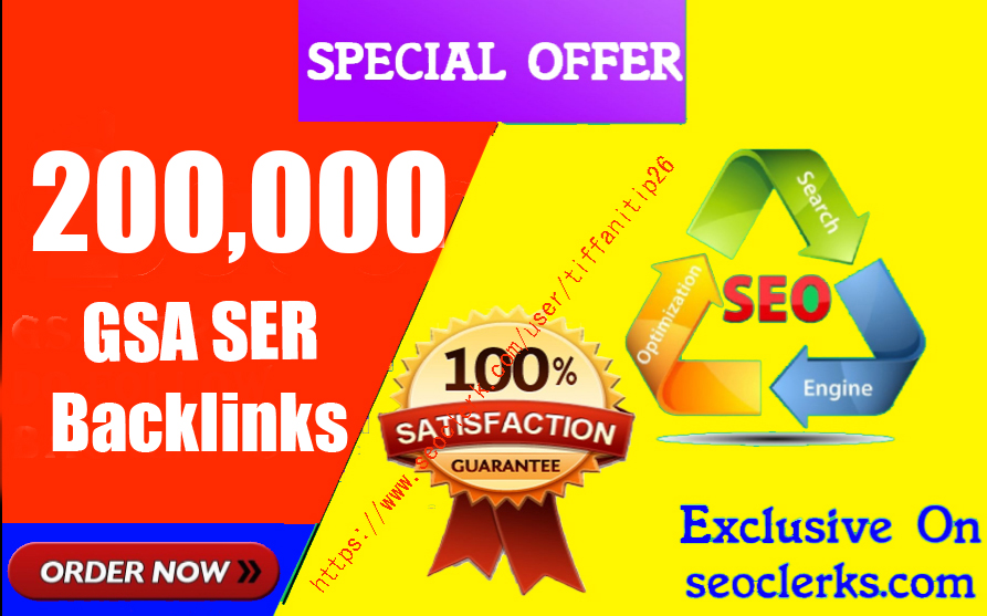 200,000 GSA high-quality Back links For Fast Ranking