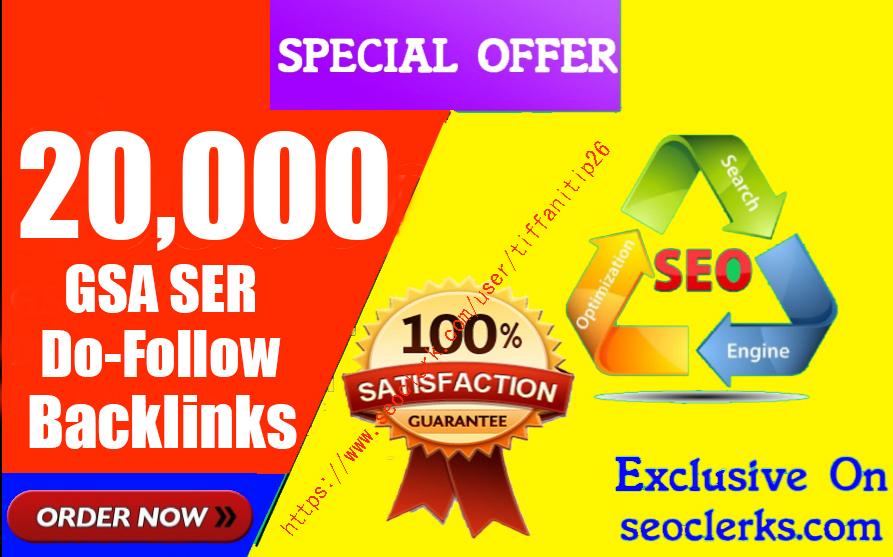 20,000 Gsa,  Ser,  Do-Follow Backlinks For Ranking Website