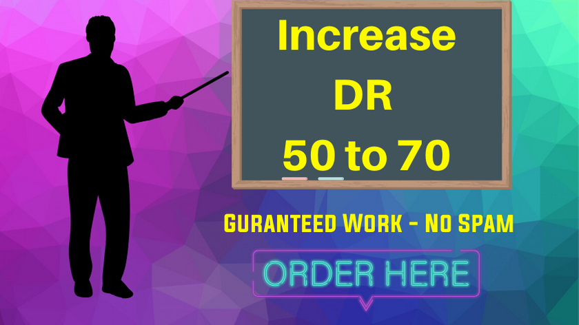 I will increase your Ahrefs Domain Rating DR 50 to 70 Guaranteed.