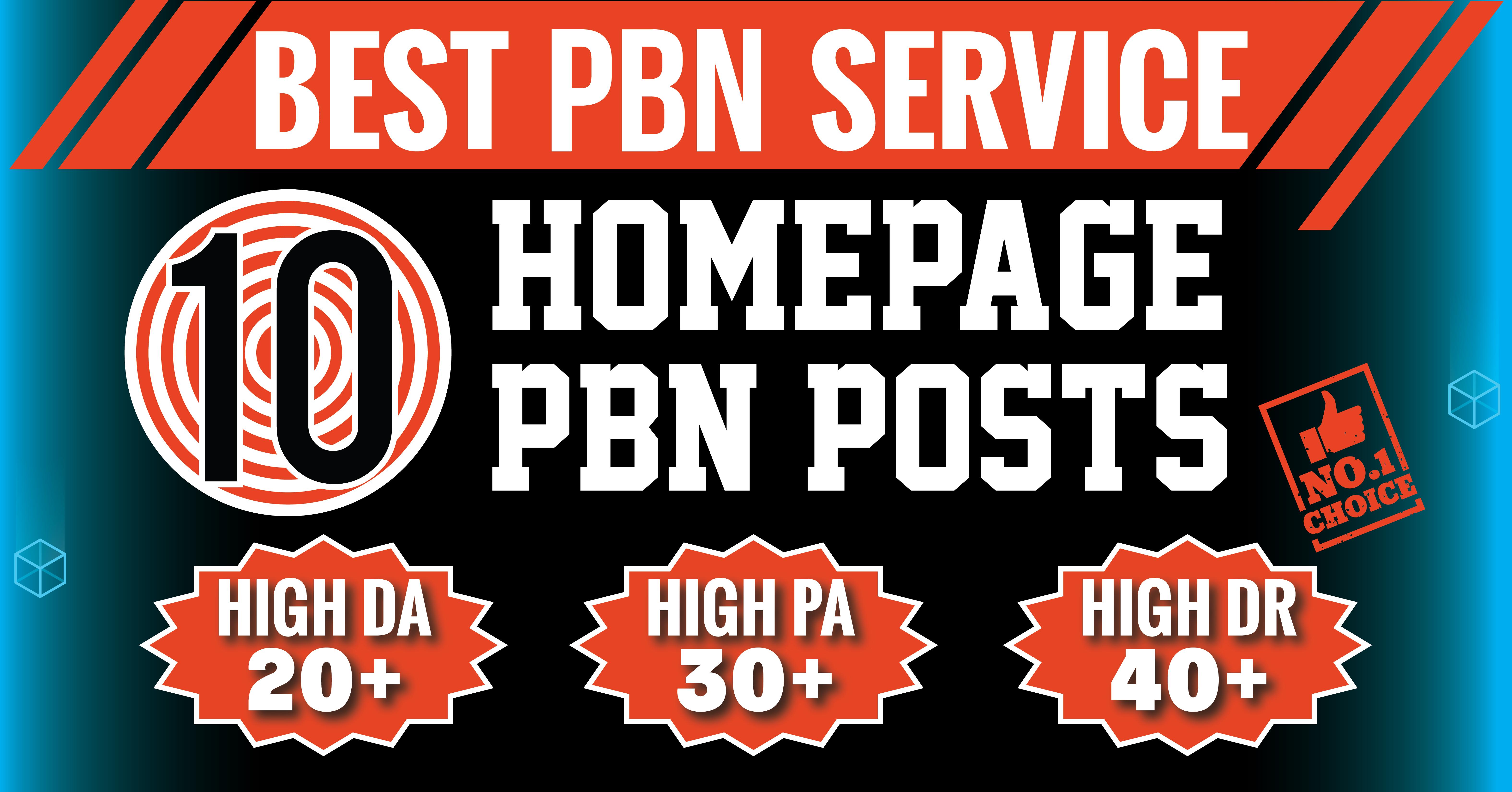 Build 10 Homepage High DA PA TF CF 20 to 40 Permanent Dofollow PBN Backlinks