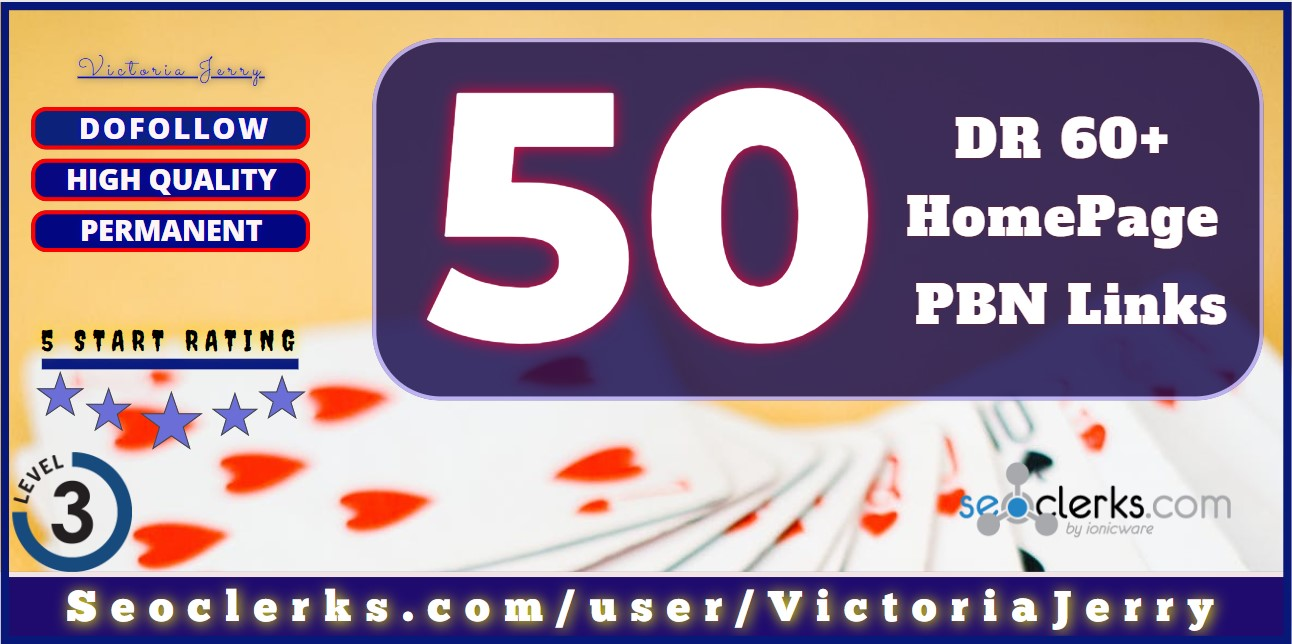 50 Casino High DR 70+ Dofollow HomePage PBN LINKS