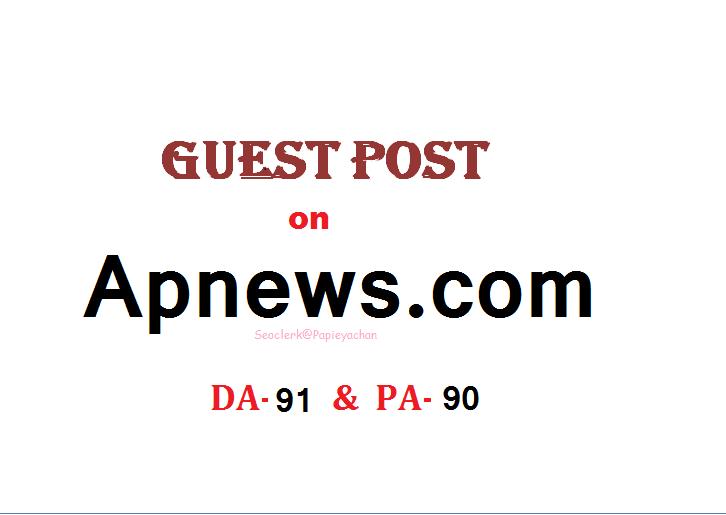 Publish Press Release content On APnews.com DA 91