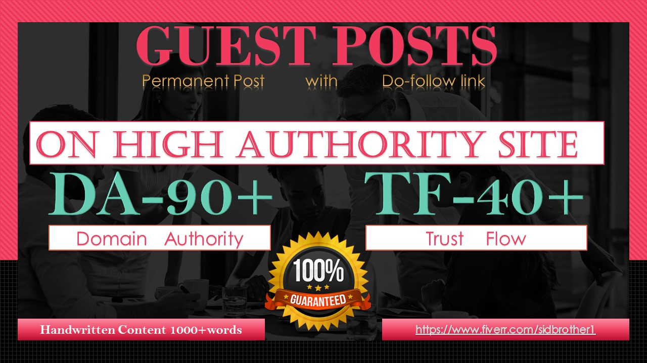 I will publish your article on high authority guest post da90 TF40