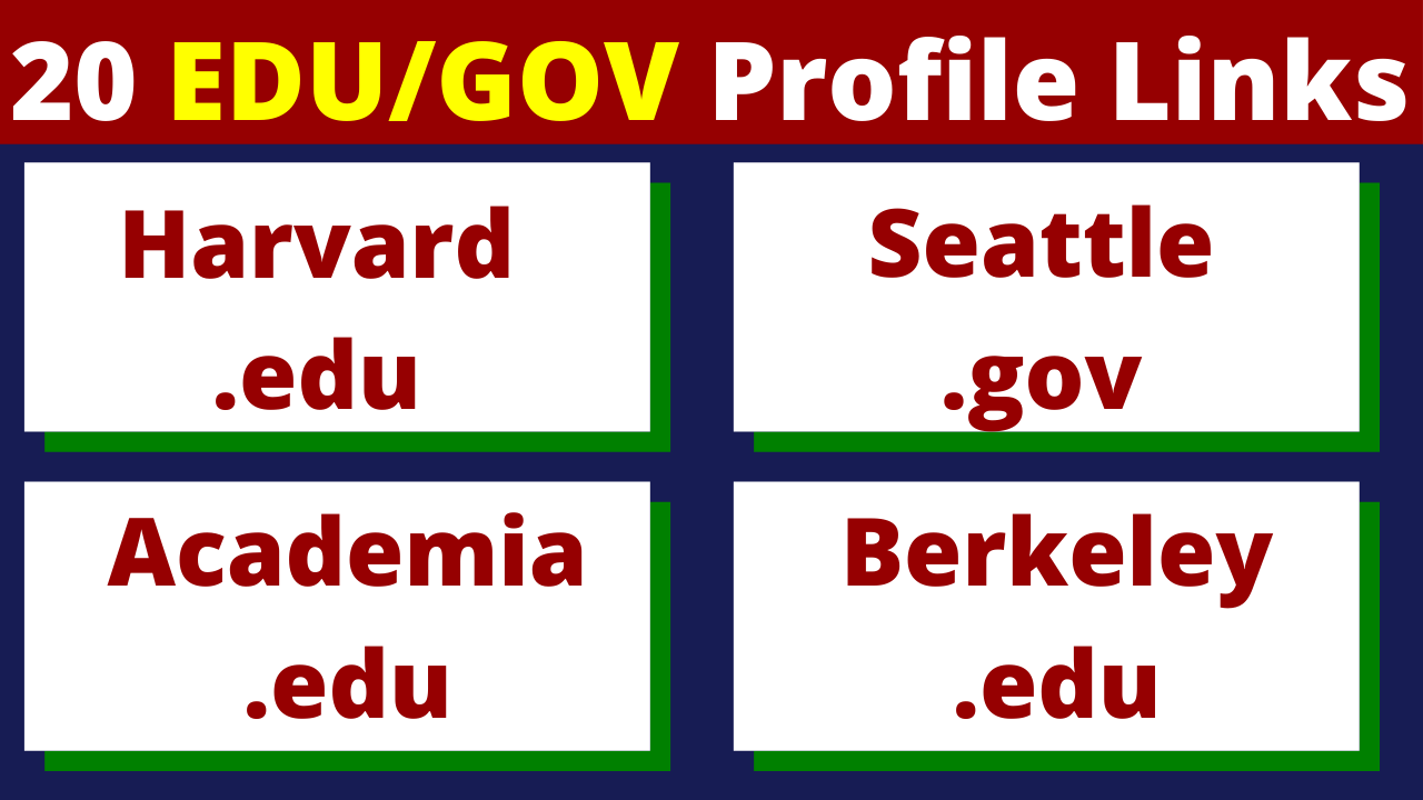 Get 20+ EDU + GOV Backlinks to Gain Trust in Google Eyes