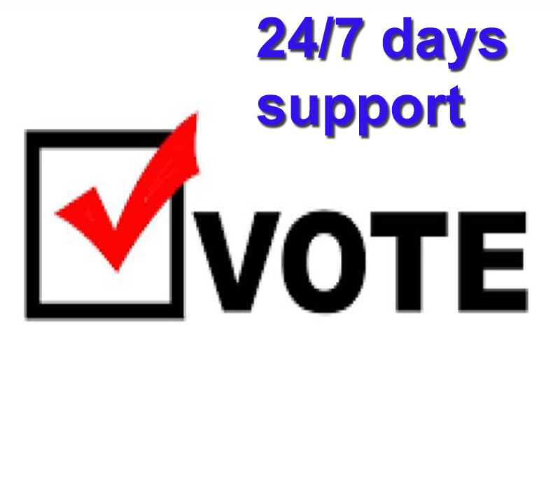 Provide 510 signup vote for your online voting contest