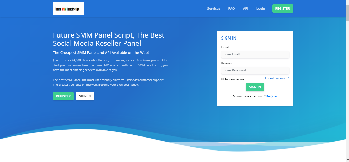 SMM Reseller panel Script with API