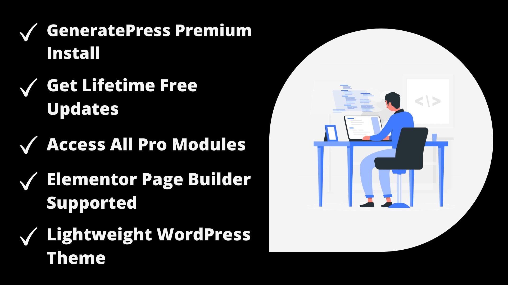 Install Generatepress premium theme with license key