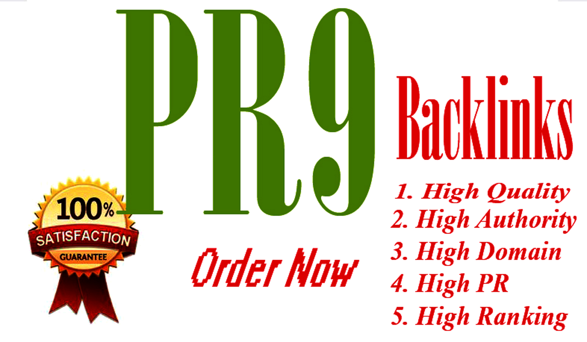 Create 20 High Quality Permanent HomePage PR9 to PR7 Dofollow SEO Backlinks