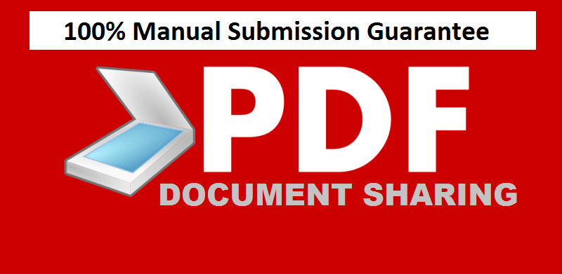 I will manual Create PDF submission to top 20 document sharing sites