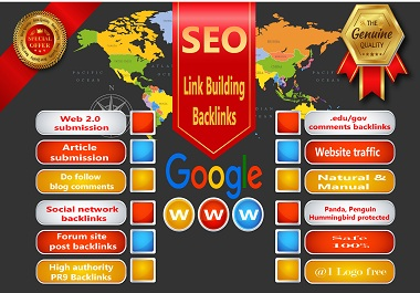 Manual 80 Mixed Backlinks from. Edu,  Web2.0,  Profile,  Article Directory,  Guest post link building