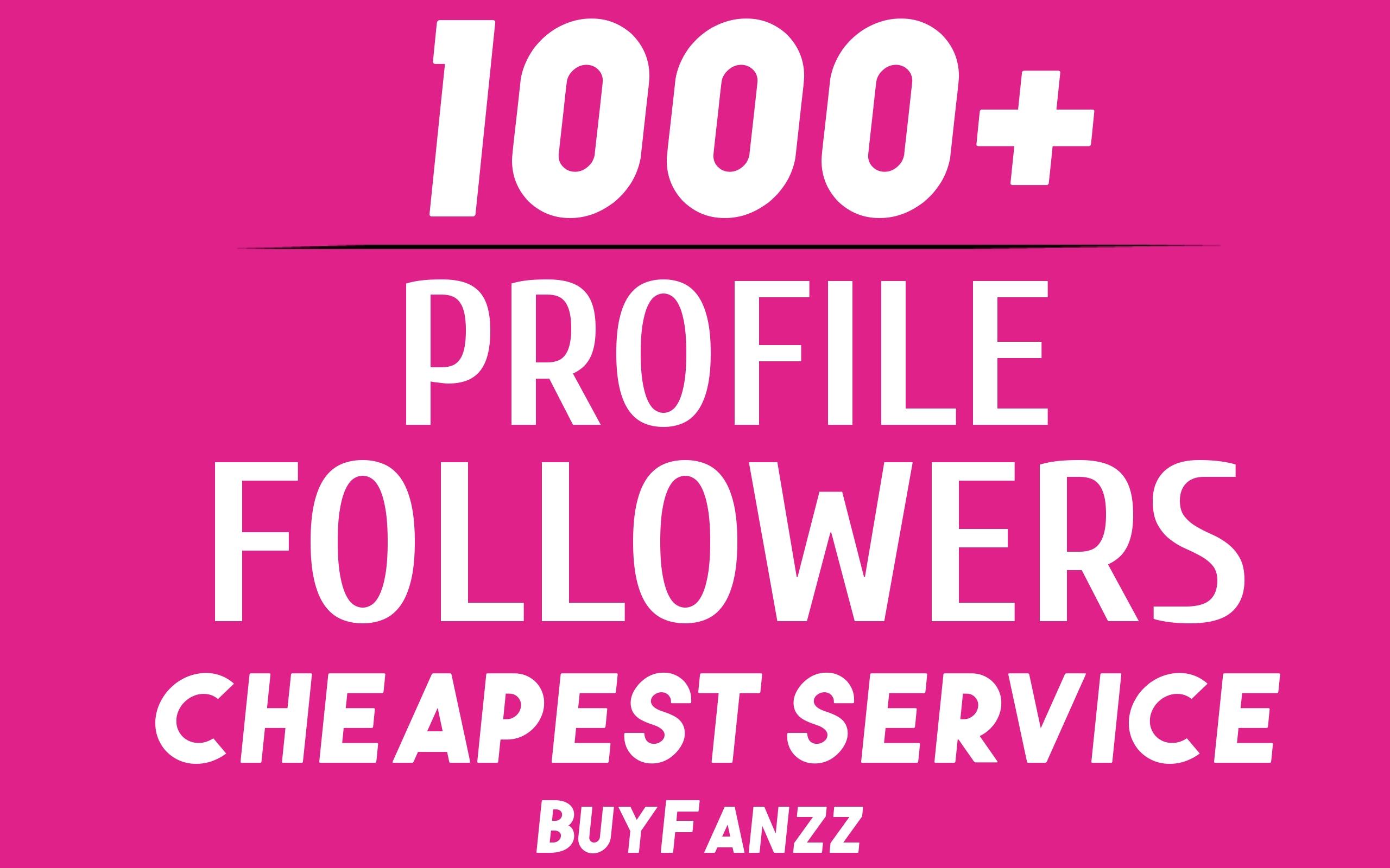 Add Fast 1000+ Profile Followers NON DROP