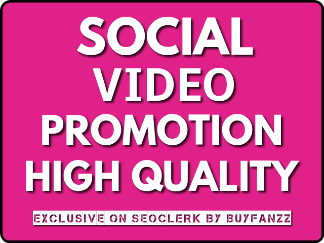 SOCIAL VIDEO Visitors Promotion Instantly With NON DROP Guarantee