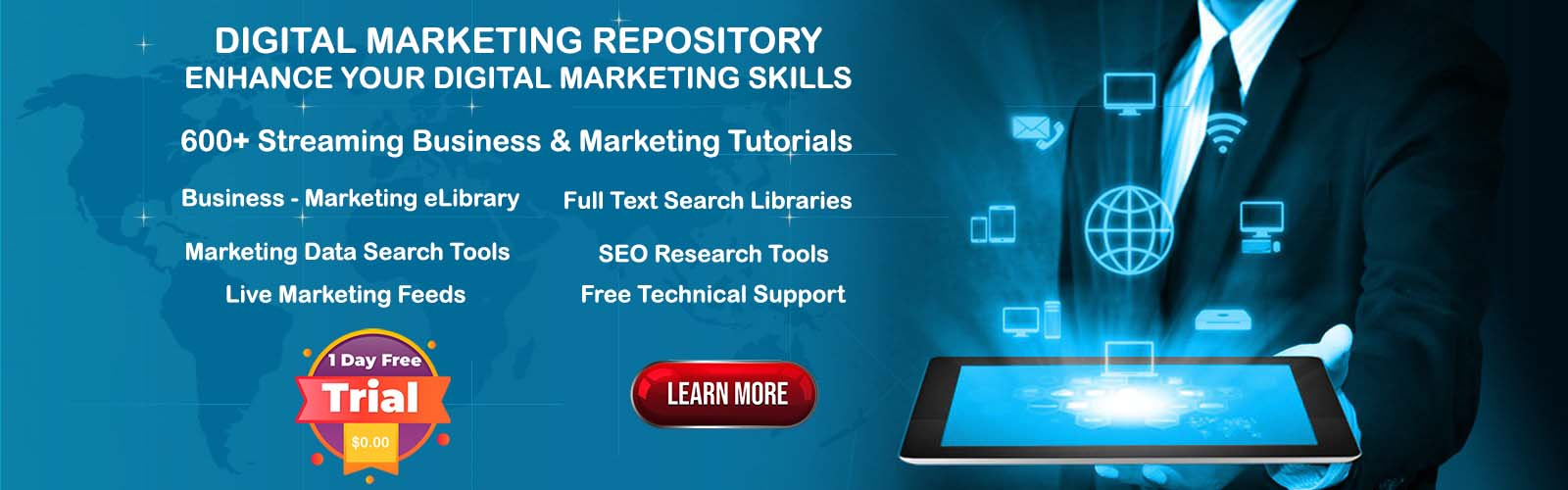The Digital Marketing Repository - 1 Month Training - Improve Your SEO and Marketing Skills