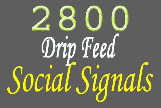 provide 2800 SEO top quality social signals