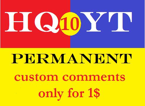 10+ permanent custom comments.