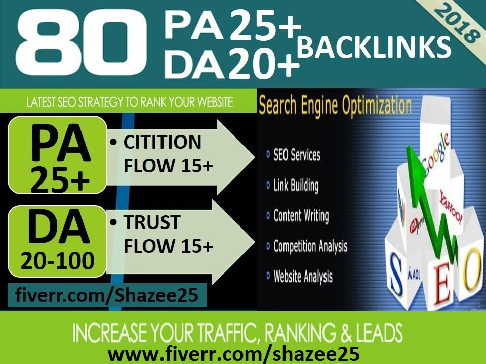 I Do 80 high trust flow citation flow dofollow backlinks