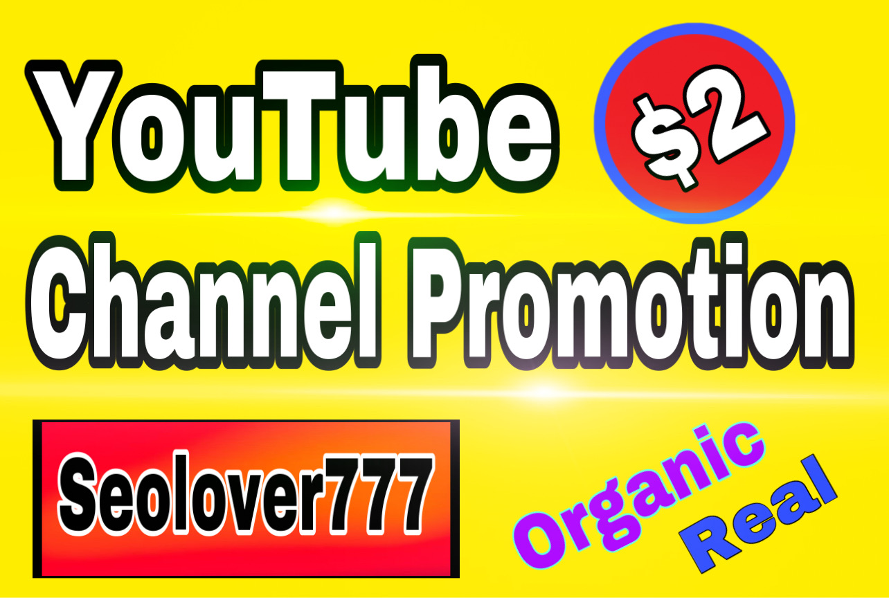 YouTube organic promotion via real & active audience
