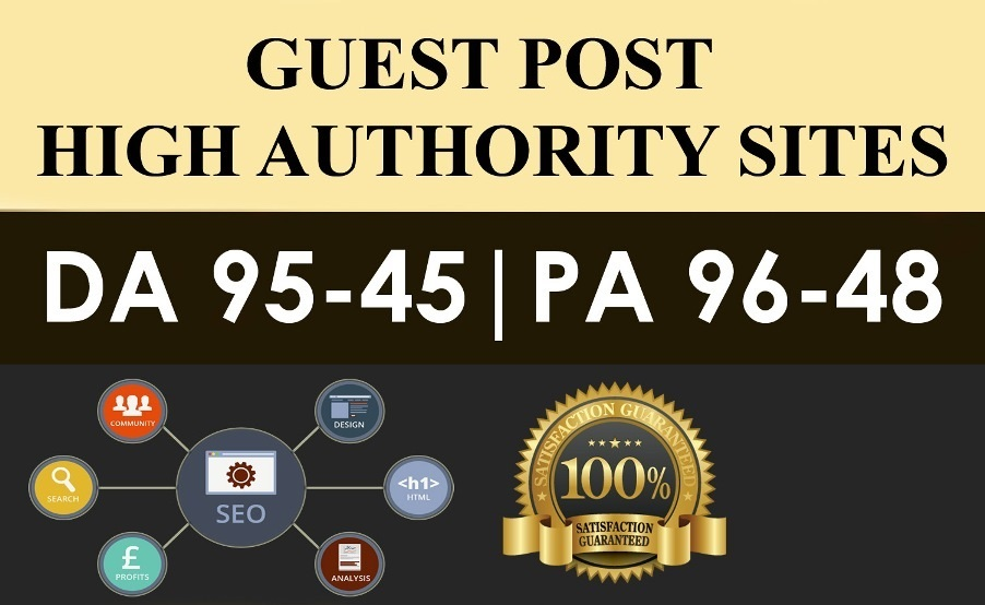Publish 5X High Authority Guest Posts On DA 60+, Hig...