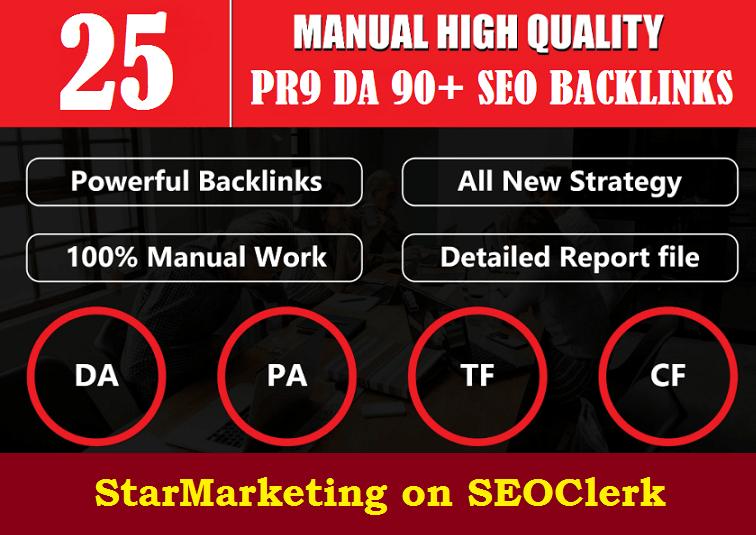 Manually Create 25 DA 90 Strong Profile Foundation Backlinks