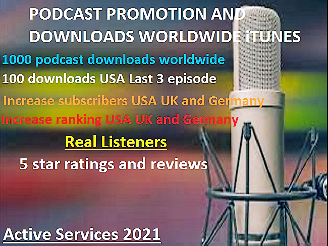 do promotion podcast grow real downloads,  ratings and podcast marketing