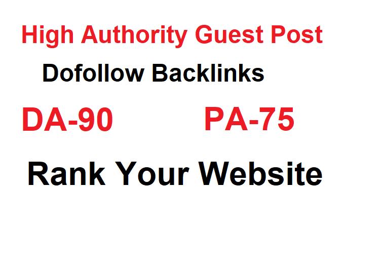 I will do guest post high DA-90 website
