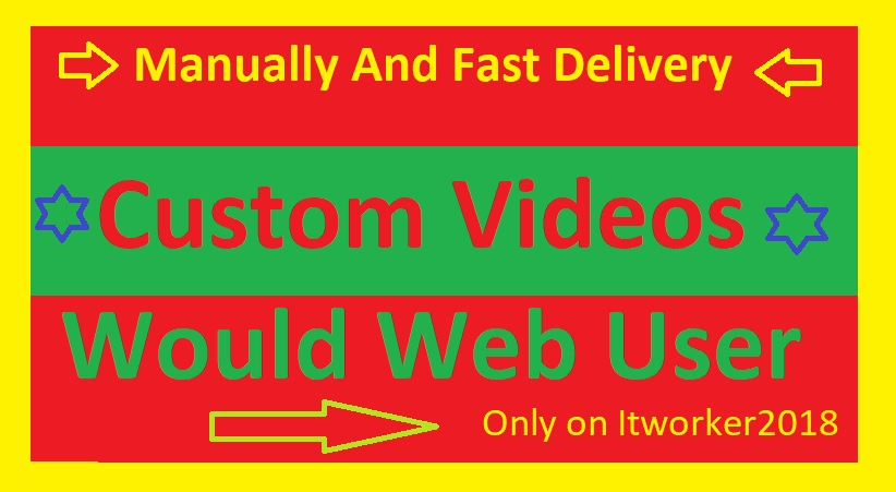 Manually YouTube Custom Videos Promotion By Would Web User