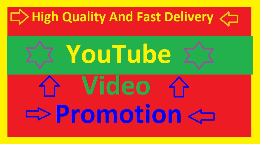 High Quality YouTube Video Promotion And Video Social Media Marketing