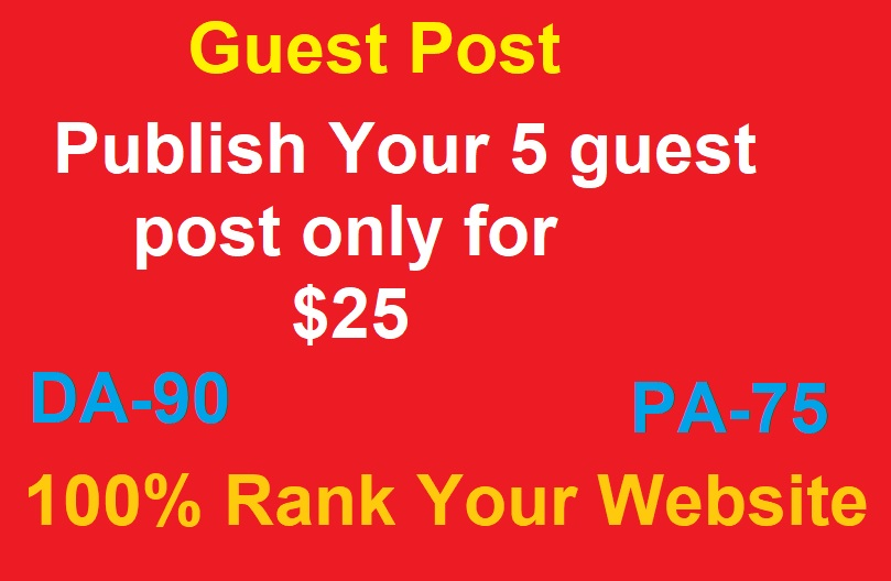 I will guest post health content on high DA authority sites