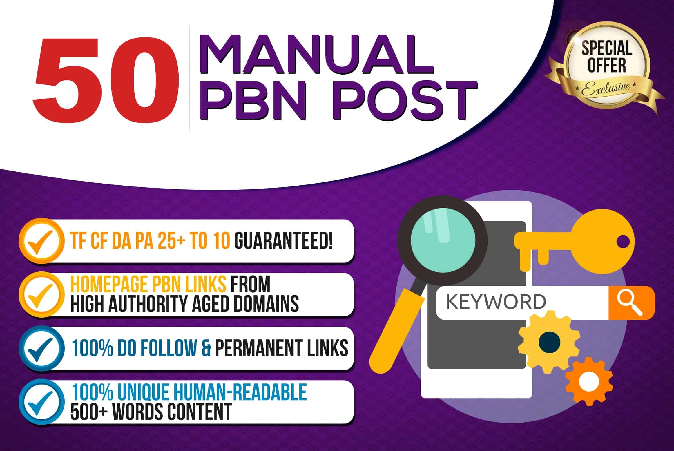 Build 50 HomePage PBN DoFollow PBN Backlink for SEO Rank