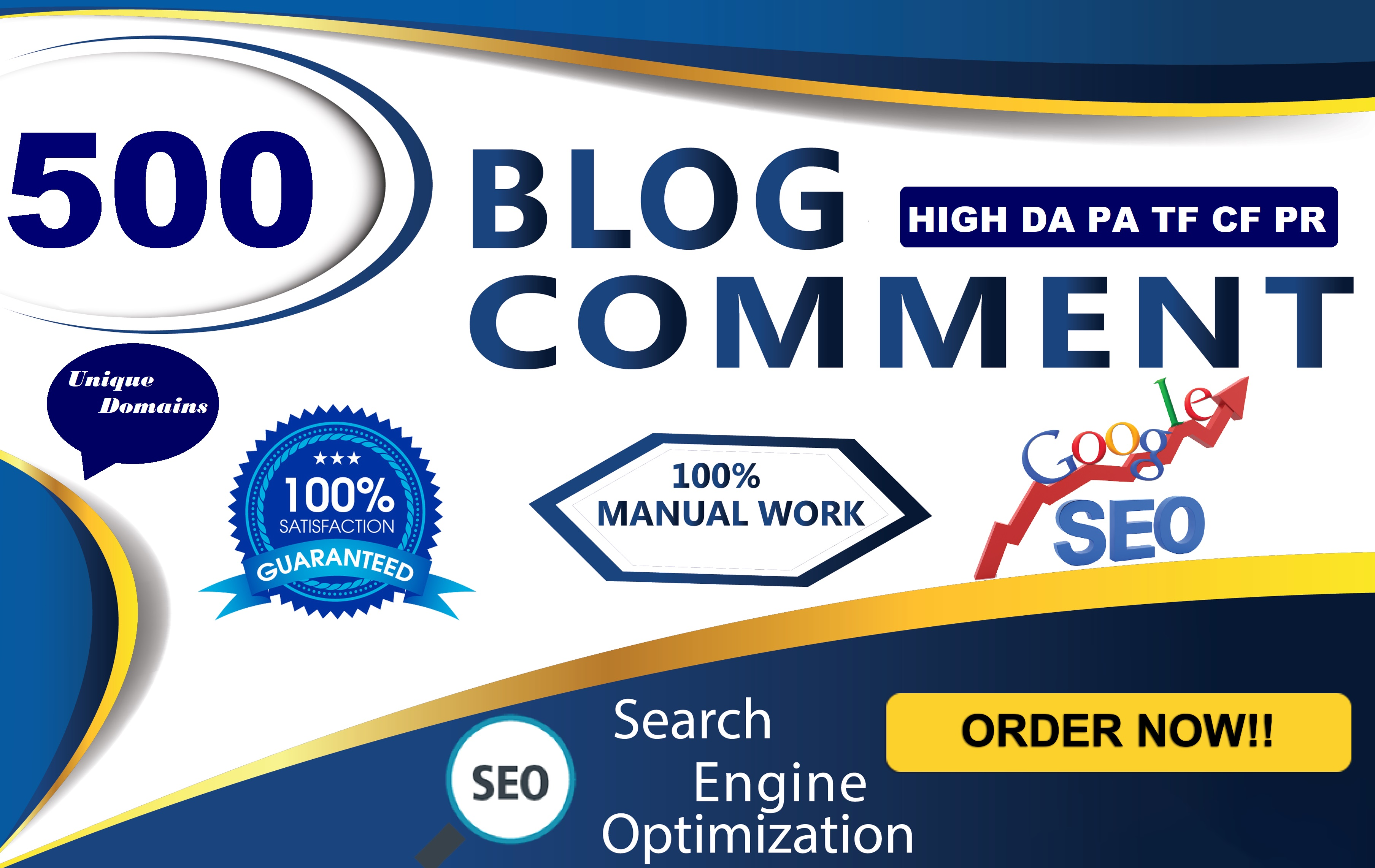 I Will Manually Provide 500 DoFollow Blog Comment Backlink High Authority