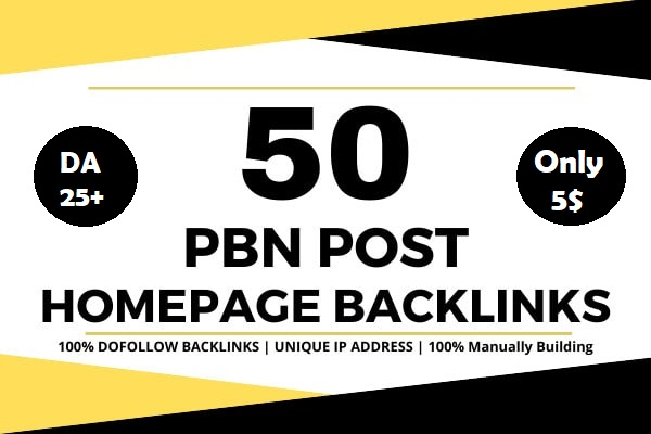 Build 50 powerful SEO permanent PBNs backlinks high DA 25+ homepage