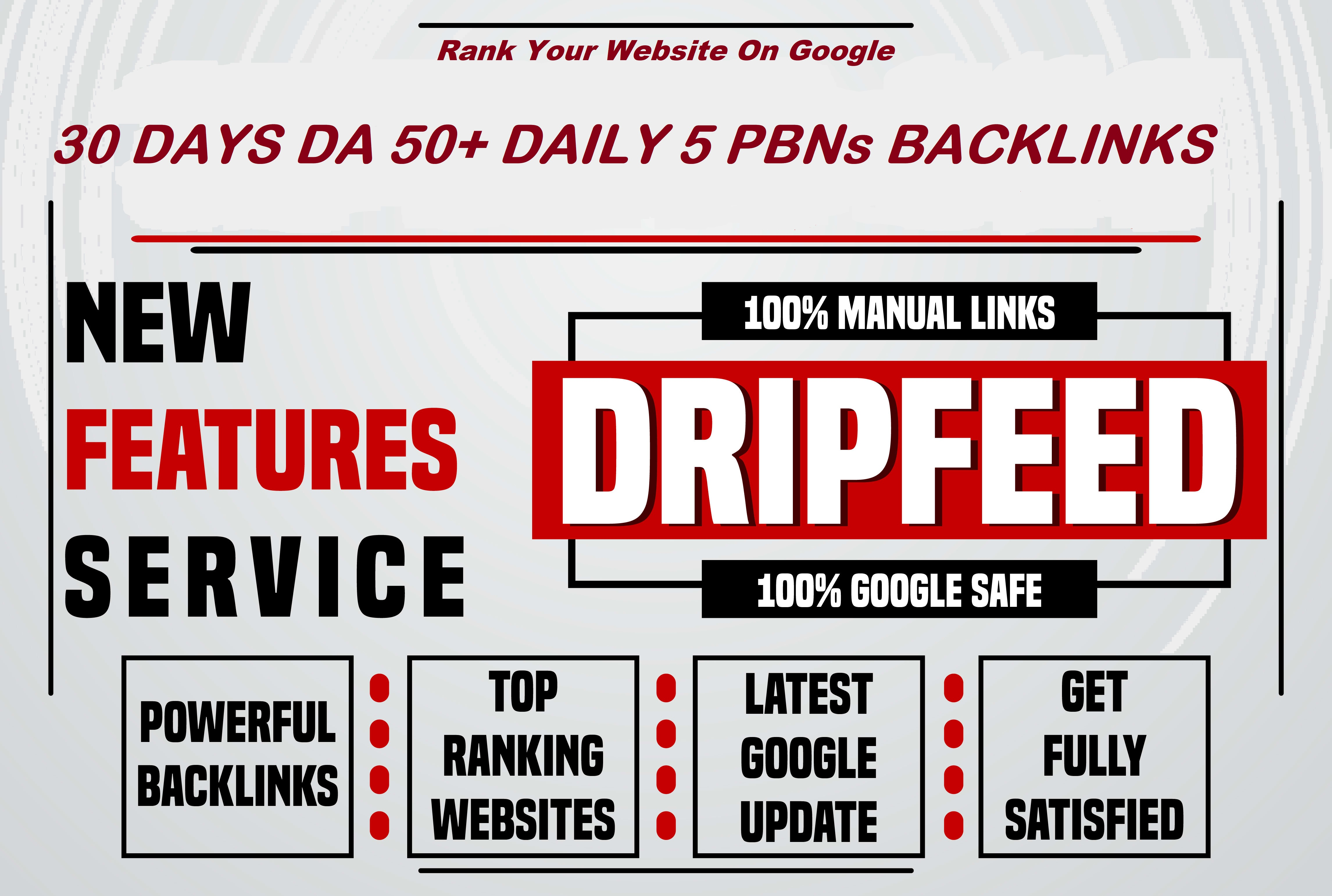 Rank Your Website In 30 Days With DA 50+ Pbn Backlinks Daily 5 Links All Unique Domains