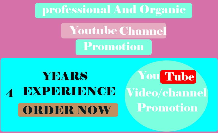 Youtube video promoton And Marketing via social media marketing