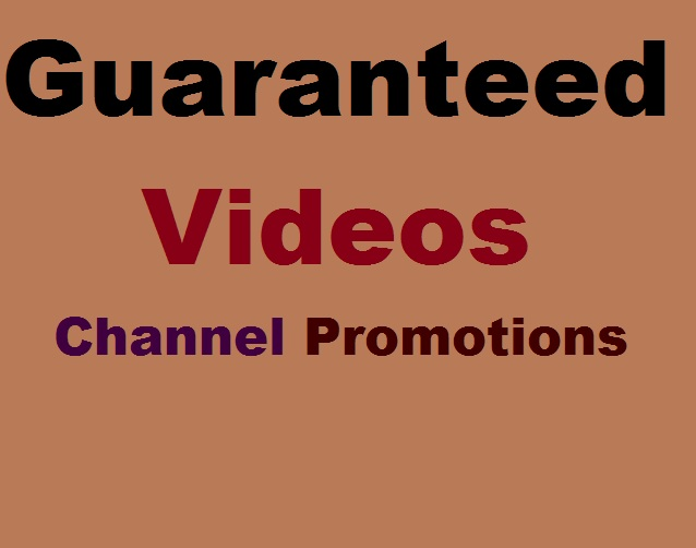 Guaranteed Video Promotions Via USA Brazil Real User And Safe