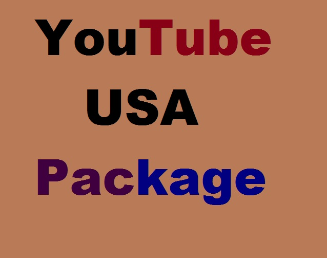 YouTube Promotion Package Via USA User