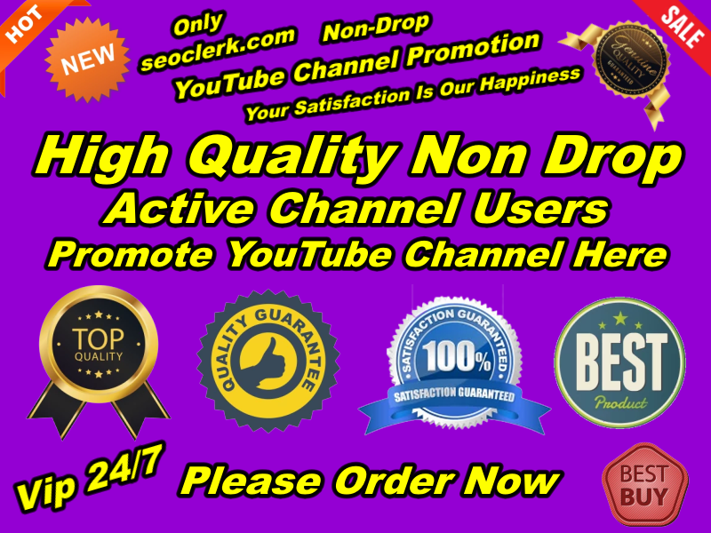 Manually Provide You Real HQ YouTube Sub Within 10-20 days